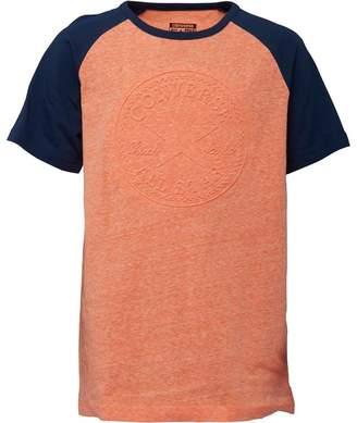 Converse Boys Chuck Patch Raglan T-Shirt Wild Mango Marl