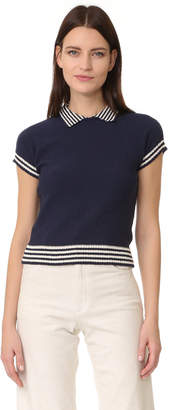RED Valentino Short Sleeve Sweater $450 thestylecure.com