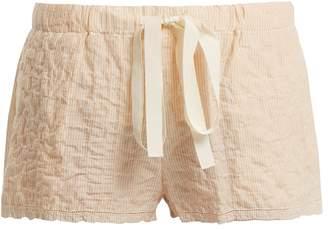 LOUP CHARMANT Drawstring-waist striped cotton shorts