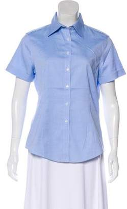 Brooks Brothers Short Sleeve Button-Up Top