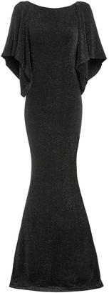 Sarvin Marylin Cowl Back Metallic Floor Length Gown