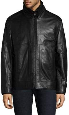 Andrew Marc Trail Master Leather & Faux Shearling Jacket