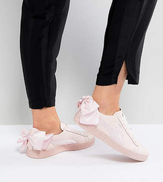 3576e118ccd Puma Suede Bow Sneakers In Pink