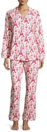 BedHeadBedhead Poinsettia Eiffel Classic Pajama Set, Print