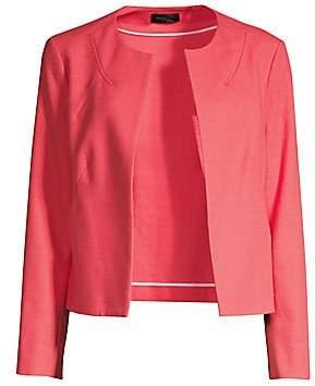 Piazza Sempione Women's Open Front Cotton-Blend Jacket