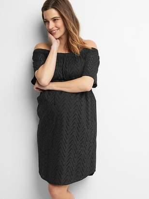 Gap Maternity zigzag off shoulder dress