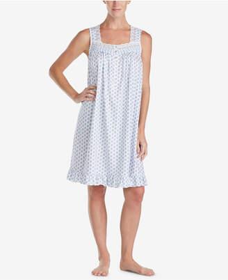 Eileen West Cotton Printed Short Nightgown