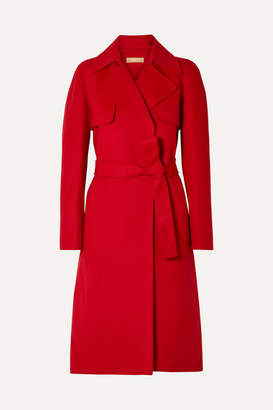 Michael Kors Wool Trench Coat - Red