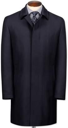 Charles Tyrwhitt Navy Herringbone Wool Car Wool Coat Size 36