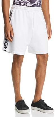 McQ Logo-Stripe Slouchy Sweat Shorts