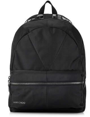 Jimmy Choo REED Black Canvas Backpack