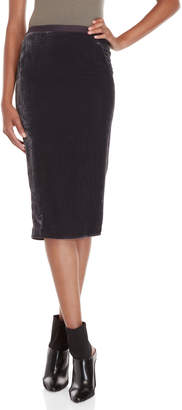 Rick Owens Purple Velvet Soft Pillar Skirt