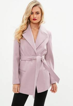 Missguided Short Belted Trench Coat