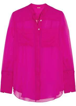 ADAM by Adam Lippes Silk-Chiffon Blouse