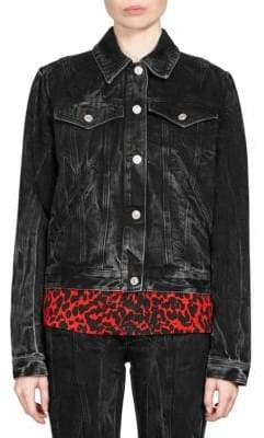 Givenchy Embroidered Washed Denim Jacket