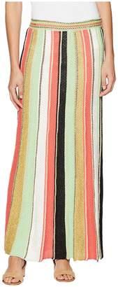 M Missoni Vertical Stripe Crochet Skirt Women's Skirt