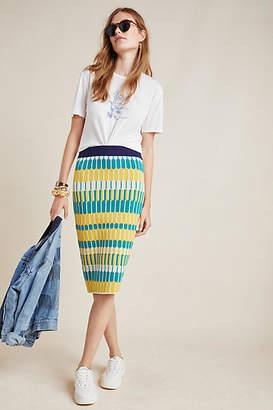 Current Air Ezra Abstract Knit Pencil Skirt