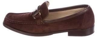 Salvatore Ferragamo Suede Logo Loafers