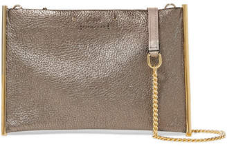 Chloé Roy Small Metallic Textured-leather Shoulder Bag - Bronze