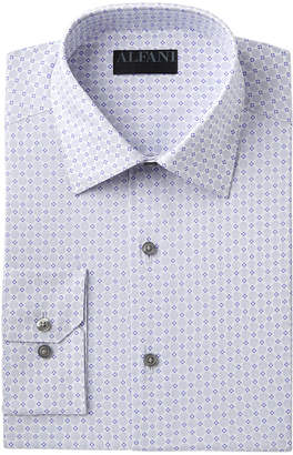 Alfani AlfaTech by Men's Slim-Fit Performance Stretch Easy-Care Circle & Geometric Pattern Dress Shirt, Created for Macy's
