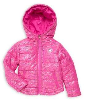 Body Glove Girls Shiny Packable Hooded Jacket