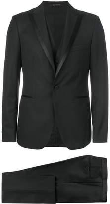 Tagliatore satin trimmed suit