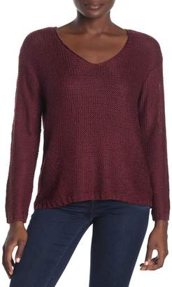 RDI V-Neck Elbow Patch High/Low Sweater