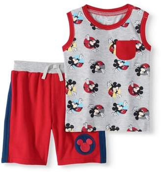 Mickey Mouse Baby Boy Tank Top & Shorts, 2pc Outfit Set