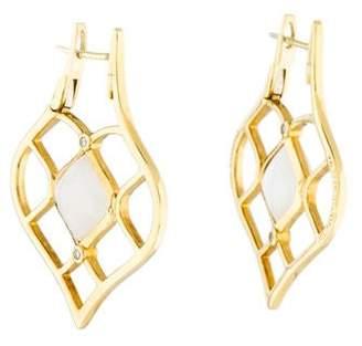 Elizabeth Showers 18K Moonstone & Diamond Earrings