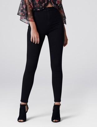Forever New Madison High-Waist Jeggings - Black - 4