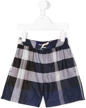 Burberry Check Technical Swim Shorts