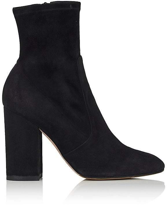 Valentino Garavani Women's Stretch-Suede Ankle Boots