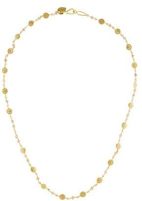 Me & Ro Me&Ro 18K Multicolor Sapphire Flower Chain Necklace