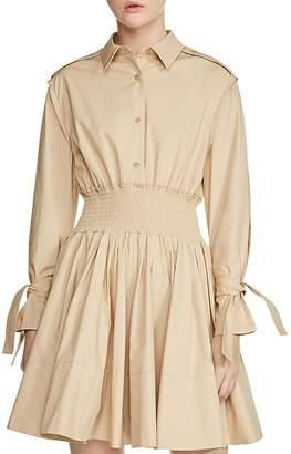 Maje Ralix Tie-Cuff Shirt Dress