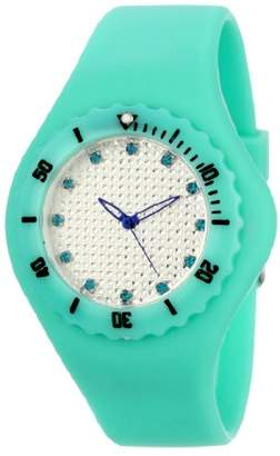 TKO ORLOGI Women's TK596TQ Beach Pave Lightweight Turquoise Rubber Watch