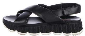 Prada Sport Leather Espadrille Sandals