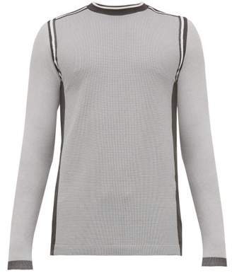 Falke Ess - Waffle Knit Mid Layer Long Sleeved T Shirt - Mens - Grey Multi