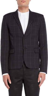 Imperial Star Black & Grey Checked Sport Coat