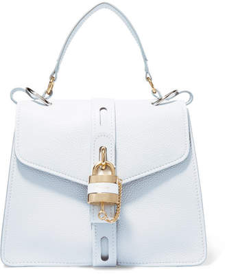 Chloé Aby Small Textured-leather Tote - Light denim
