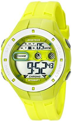 Armitron Sport Women's 45/7067LGN Digital Chronograph Resin Strap Watch