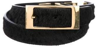 MCM Ponyhair Embellished Belt