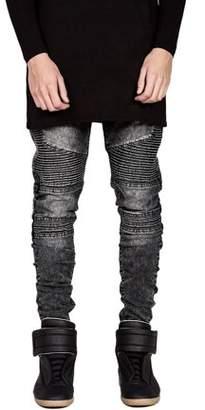 Walmart Sale Prices Trendy Designed Straight Pants Casual Outddor Men Jeans Slim Elastic Denim Trousers Exquisite Male Pencil Pants