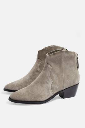 Topshop Betty Western Ankle Boots