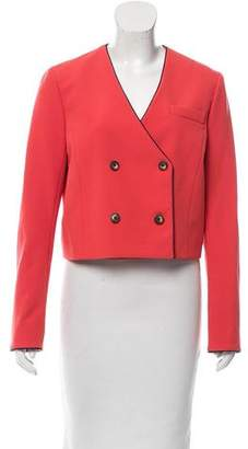 Thakoon Addition Double-Breasted Cropped Blazer