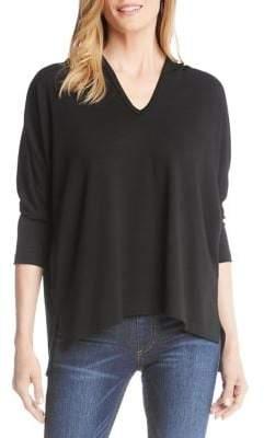 Karen Kane High-Low Hem Hooded Sweater