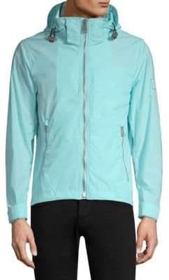 Burberry Hooded Zip-Front Jacket