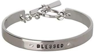 BCBGeneration BCBG Generation Silver Crystal Blessed Cuff Bracelet