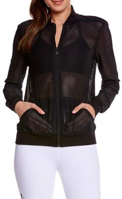 Beyond Yoga Mesh Bomber Jacket