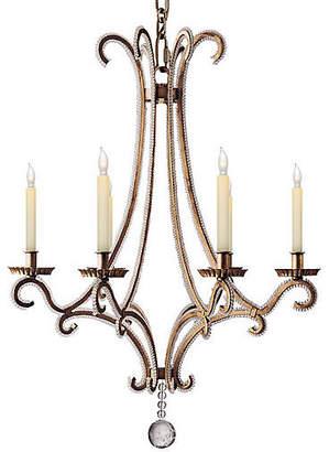 Visual Comfort & Co. Oslo Crystal Chandelier - Gilded Iron