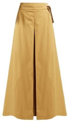 Palmer Harding Palmer//Harding Palmer//harding - Sundance Cotton Blend Wide Leg Trousers - Womens - Camel